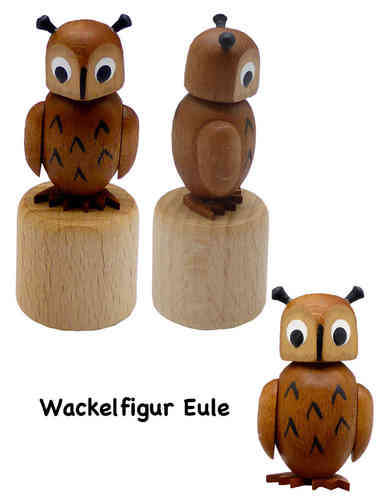 wackelfigur eule tomsaland ihr einkaufsland. Black Bedroom Furniture Sets. Home Design Ideas