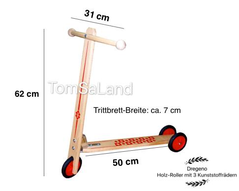 TomSaLand_Holz-Roller_Roller_mit_3_Kunststoffradern_Masseuberblick