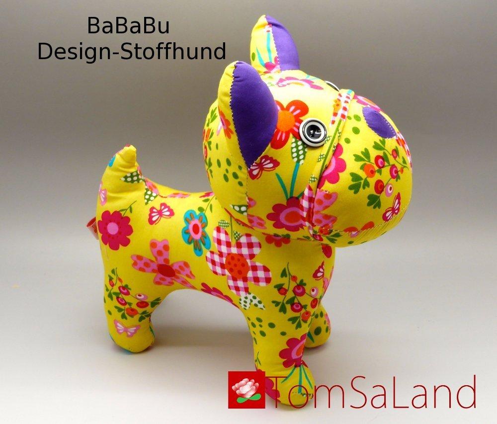 Bababu_Design-Stoffhund_45_grad_Seitenansicht_mit_logo
