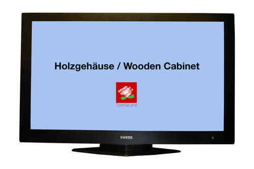 "SWEDX Full-HD Wooden-TV 37"" with piano lack wood"