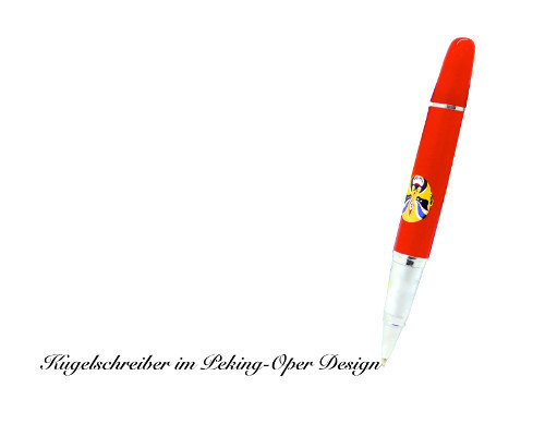 Ballpen with the design of Peking Opera red