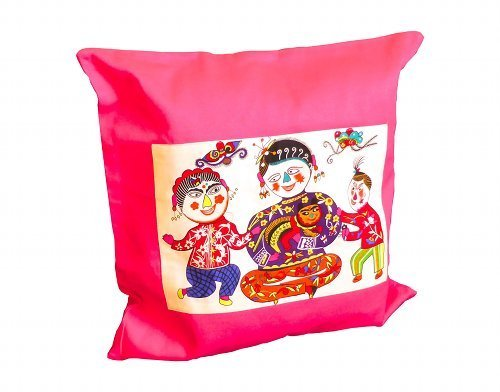 Cushion Cover with funny chinese figures