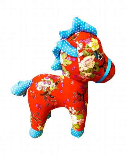 BaBaBu Cult figure red flower horse
