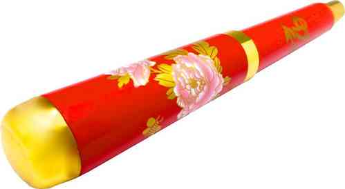 Ballpen with the design of peony flower red background