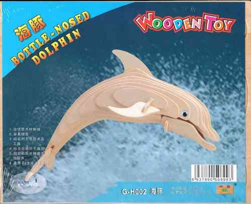 "Classic toy woodcraft construction kit ""Bottle-Nosed Dolphin """
