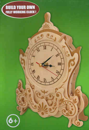 "Classic Clock woodcraft construction kit ""Table-Clock """