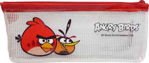 Angry Bird Style Pencil Pen Bag with red Zipper