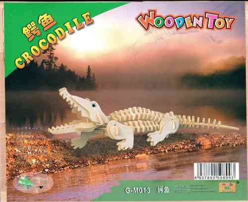 "Classic toy woodcraft construction kit ""Crocodile"""