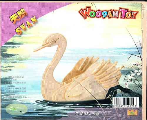 "Classic toy woodcraft construction kit ""Swan """