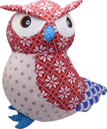 BaBaBu Cult figure Owl (red)