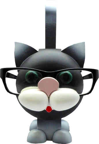 Glasses Stand Black Cat