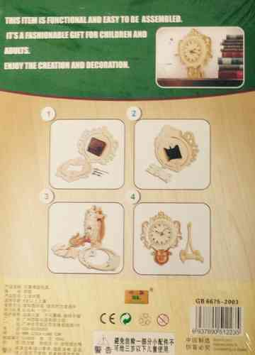 "Classic Clock woodcraft construction kit ""Pendulum clock"""