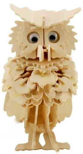 "Classic toy woodcraft construction kit ""Owl"""