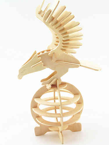 "Classic toy woodcraft construction kit ""Eagle """