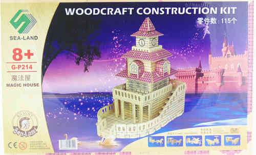 "Classic toy woodcraft construction kit ""Magic house"""