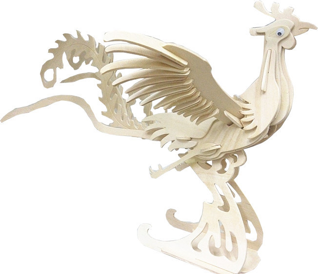 "Classic toy woodcraft construction kit ""Phoenix (primary color)"""