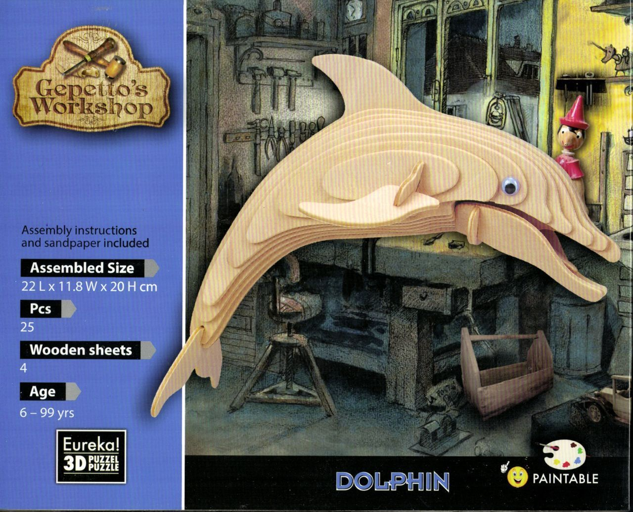 "Gepetto's woodcraft construction kit ""Bottle-Nosed Dolphin """