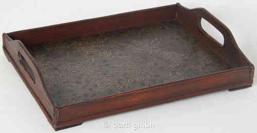 Tablett Holz Design holz tablett set antik design tomsaland ihr einkaufsland