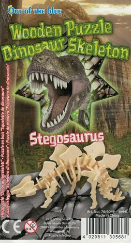 "Classic toy woodcraft construction kit ""Dinosaur Stegosaurus"""