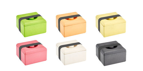 Colorful Lunchbox made of Bamboo
