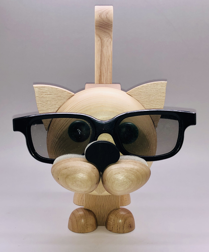 Glasses Stand Cat